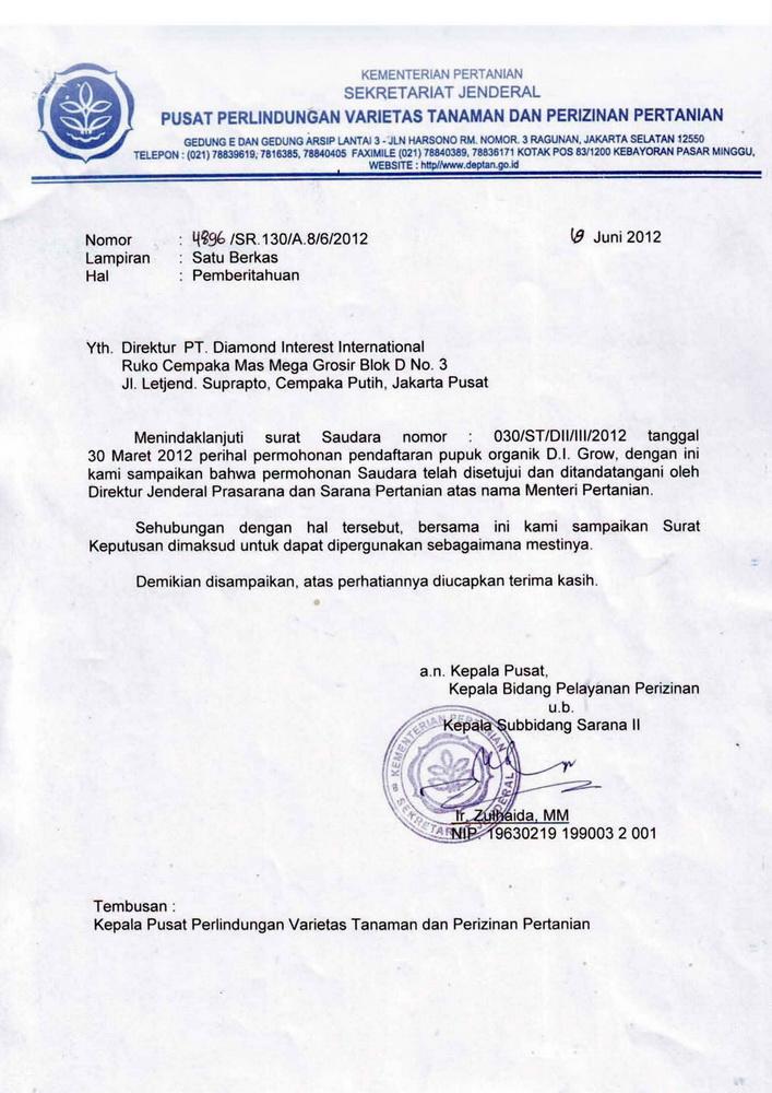B01 - DIGROW RED - Surat Pemberitahuan Persetujuan